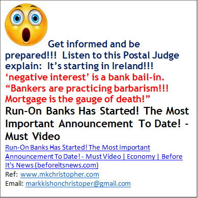 """WARNING: The BANK """"Bail-In"""" begins"""